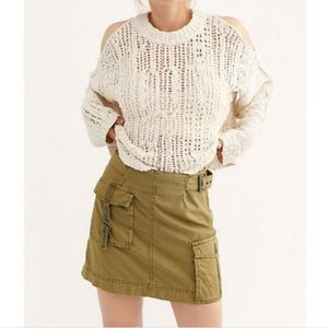 Free People Erika Utility Mini Skirt